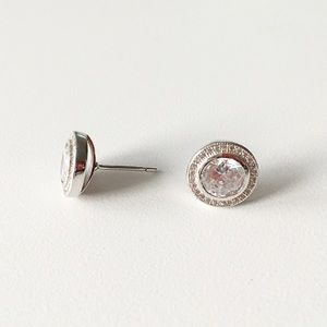 Boutique | Sterling & CZ Halo Studs